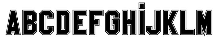 SablonUp-College Font LOWERCASE