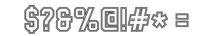 SablonUp-Outline Font OTHER CHARS