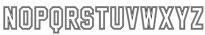 SablonUp-Outline Font UPPERCASE