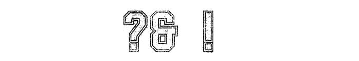 SablonUp-OutlineAlt Font OTHER CHARS