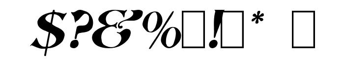 Saccule Oblique Font OTHER CHARS