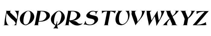 Saccule Oblique Font UPPERCASE