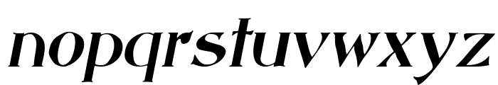 Saccule Oblique Font LOWERCASE