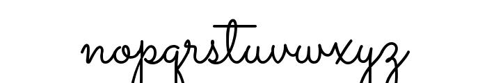 Sacramento Font LOWERCASE