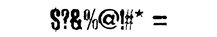 SadKropotkinLaugh Font OTHER CHARS