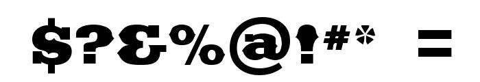Saddlebag Black Font OTHER CHARS