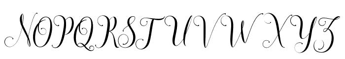 SadhiraDemo Font UPPERCASE