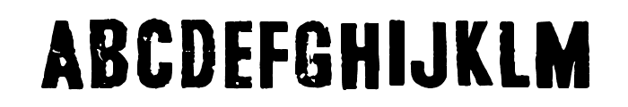 Safe from harm Font LOWERCASE