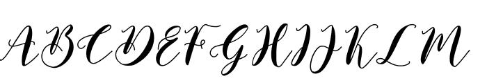 Saffron Font UPPERCASE