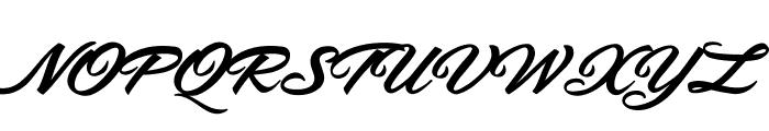Safira Shine Personal Use Font UPPERCASE