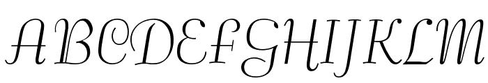 Safrole Font UPPERCASE