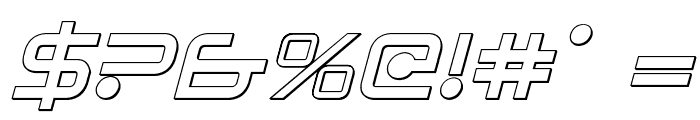 Sagan Outline Italic Font OTHER CHARS