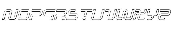 Sagan Outline Italic Font UPPERCASE