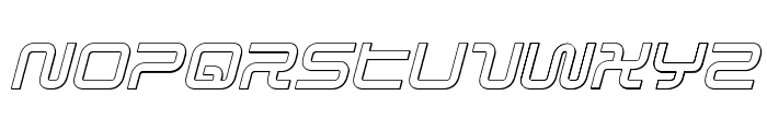 Sagan Outline Italic Font LOWERCASE