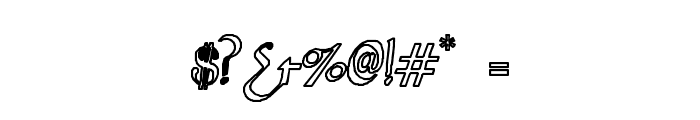 Sahara-Normal Hollow Font OTHER CHARS