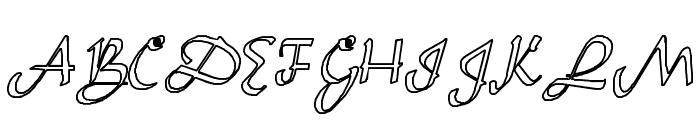 Sahara-Normal Hollow Font UPPERCASE