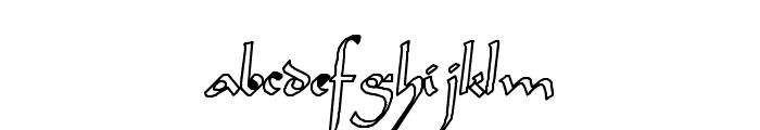 Sahara-Normal Hollow Font LOWERCASE
