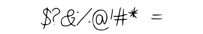 SaidItInASimpleWay Font OTHER CHARS