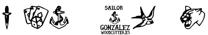 Sailor Gonzalez Font OTHER CHARS