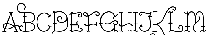 Sailorette Tattoo Font UPPERCASE