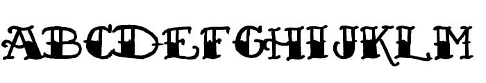 Sailor's Fat Tattoo Script Font UPPERCASE