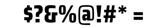 Saira Condensed ExtraBold Font OTHER CHARS