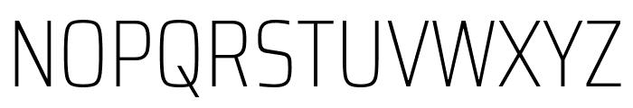 Saira Condensed Thin Font UPPERCASE