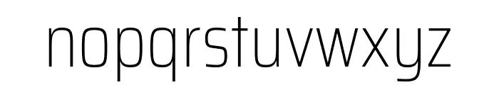 Saira Condensed Thin Font LOWERCASE