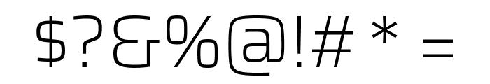 Saira ExtraLight Font OTHER CHARS