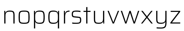 Saira ExtraLight Font LOWERCASE