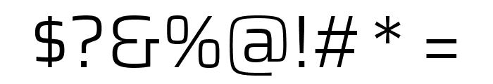 Saira Light Font OTHER CHARS
