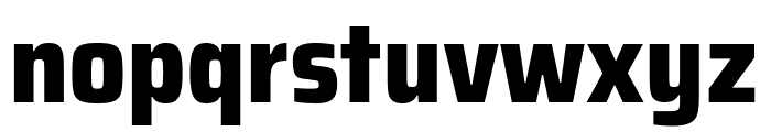 Saira SemiCondensed ExtraBold Font LOWERCASE