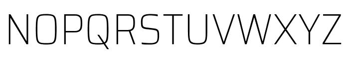 Saira SemiCondensed Thin Font UPPERCASE