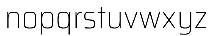 Saira SemiCondensed Thin Font LOWERCASE