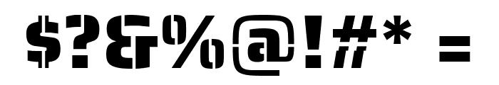 Saira Stencil One Regular Font OTHER CHARS