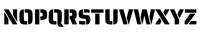 Saira Stencil One Regular Font UPPERCASE