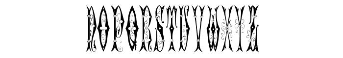 Sajou Fancy Gothic Font LOWERCASE