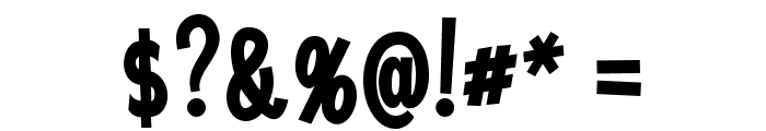 Saker Sans Bold PERSONAL USE Font OTHER CHARS