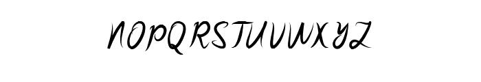 SakiraScript Font UPPERCASE