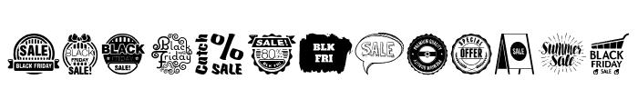 Sale Font UPPERCASE