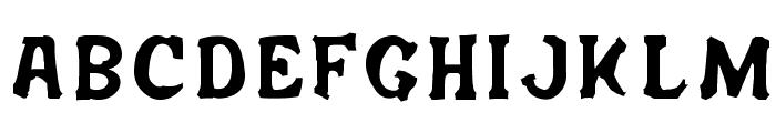 Salem Ergotism Font UPPERCASE