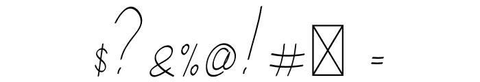 Salhena Free Font OTHER CHARS