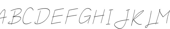 Salhena Free Font UPPERCASE