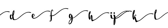 Salma Stylistic 1 Font LOWERCASE