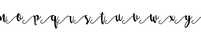 Salma Stylistic 3 Font UPPERCASE