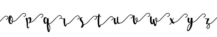 Salma Stylistic 3 Font LOWERCASE