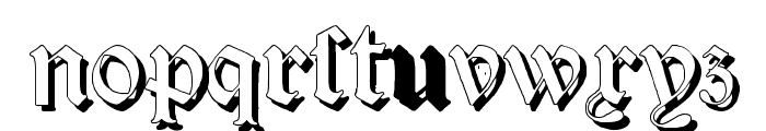 Salterio Shadow Two Font LOWERCASE