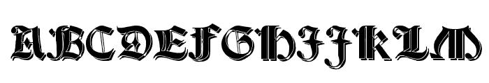 Salterio Shadow Font UPPERCASE