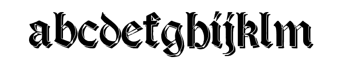 Salterio Shadow Font LOWERCASE