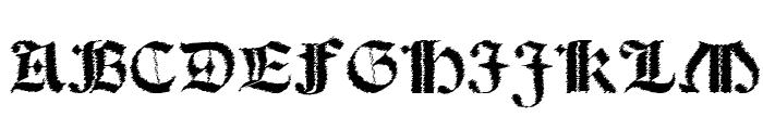 Salterio Trash Font UPPERCASE